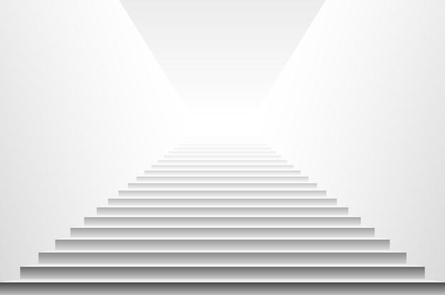 Escadas isoladas no fundo branco. passos. ilustração vetorial