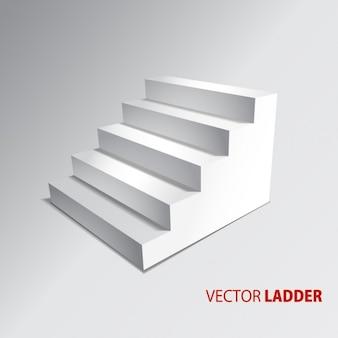 Escadas isoladas no fundo cinzento passos vetor