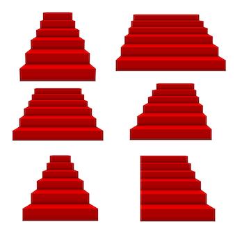 Escadas vermelhas de eventos festivos.