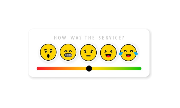 Escala de feedback de emoção