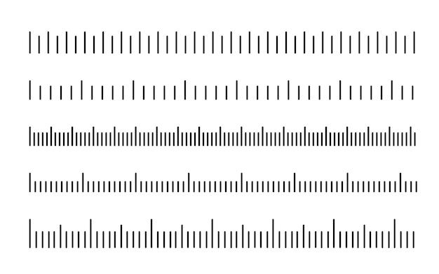Escala de medição escala preta para governantes diferentes unidades de medida conjunto de réguas