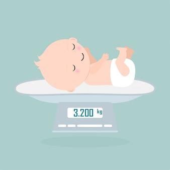 Escala de peso para o bebê