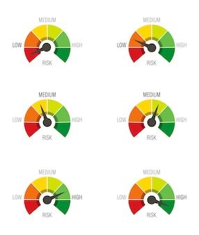 Escala de vermelho para verde com seta