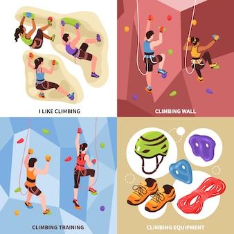 Escalada conceito de design de ginásio