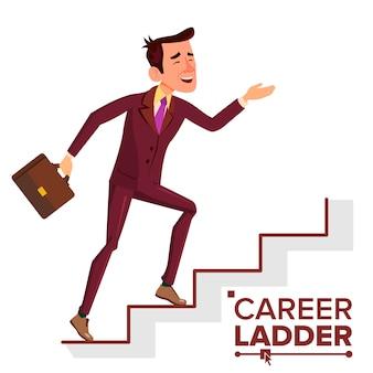 Escalada de carreira de empresário escalada