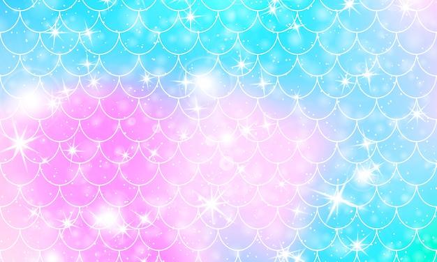Escalas de sereia. squama de peixe. padrão de arco-íris.