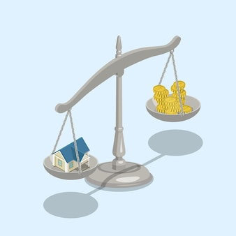 Escalas planas de valor de venda de hipotecas de imóveis