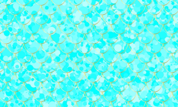 Escama de peixe. padrão de aquarela kawaii azul. sereia squama. ilustração do vetor de cor.