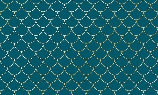 Escamas douradas de sereia. squama de peixe. padrão de escala.