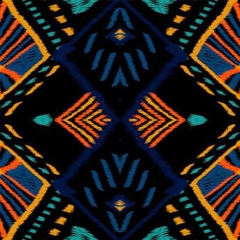 Escarlate azulejo artesanal. cornflower chevron vector padrão sem emenda