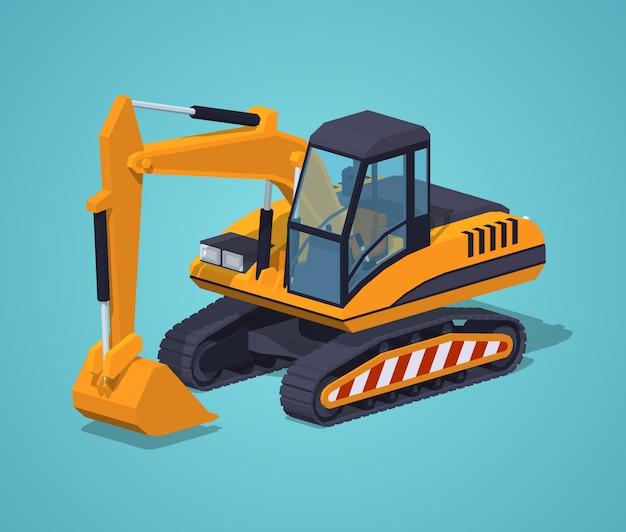 Escavadeira amarela. máquinas especiais