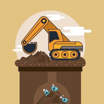 Escavadeira hidráulica de mineração