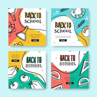 Escola de design desenhado à mão instagram posts
