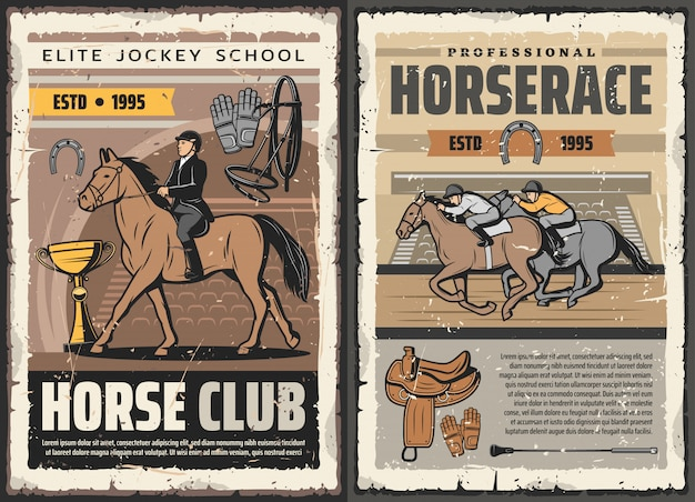 Escola de jockey de elite, clube profissional de corrida de cavalos