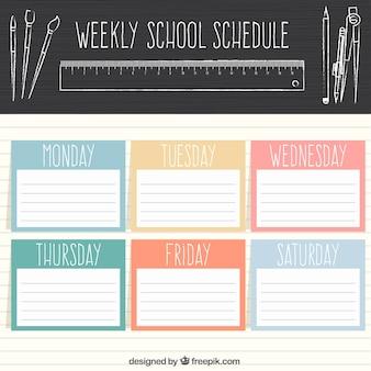 Escola de planejamento semanal