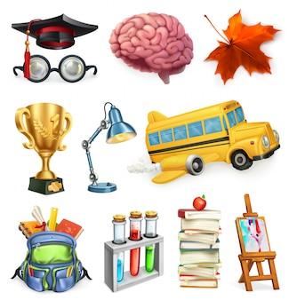 Escola e educação, conjunto 3d