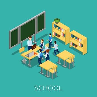 Escola e ilustração de aprendizagem