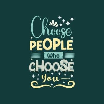 Escolha as pessoas que escolherão seu modelo de vetor de tipografia