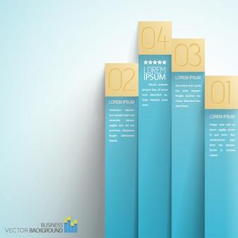 Escolha de opções de infográficos de negócios