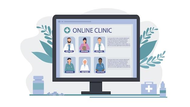 Escolha de um médico online para fornecer serviços médicos remotos