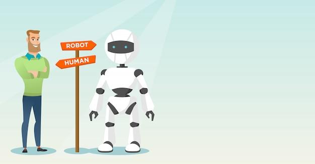 Escolha entre inteligência artificial e humana