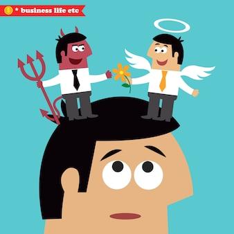 Escolha moral, ética empresarial e tentação