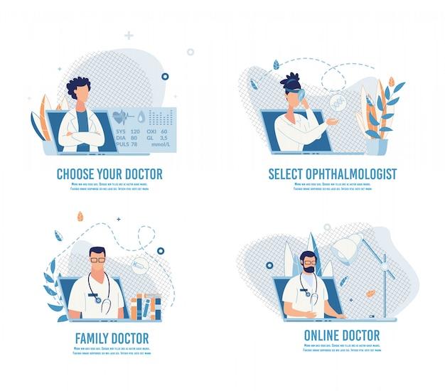 Escolha o médico e marque um encontro on-line