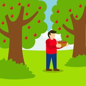 Escolhendo a ilustração da apple