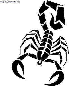 Escorpião em preto