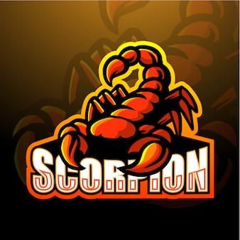 Escorpião mascote esport ilustração