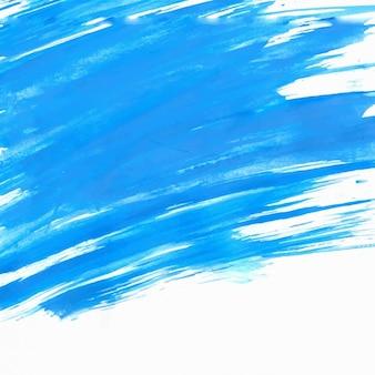 Escova azul afaga o fundo
