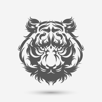 Escova de arte de cabeça de tigre