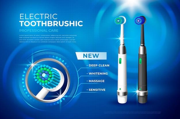 Escova de dentes realista para cuidados dentários