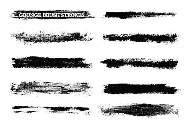 Escova de grunge cursos coleção