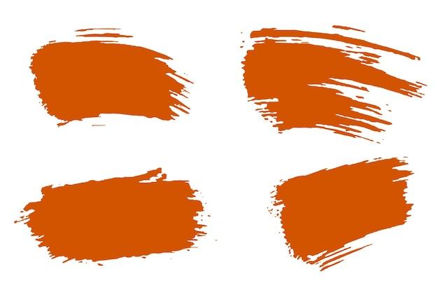 Escova de tinta acrílica laranja elegante