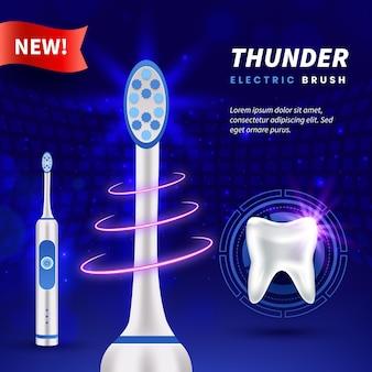 Escova realista para cuidados dentários