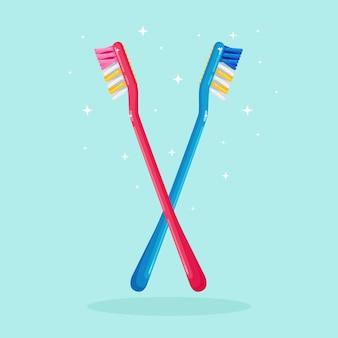 Escovas de dentes para escovar os dentes. cuidado dental