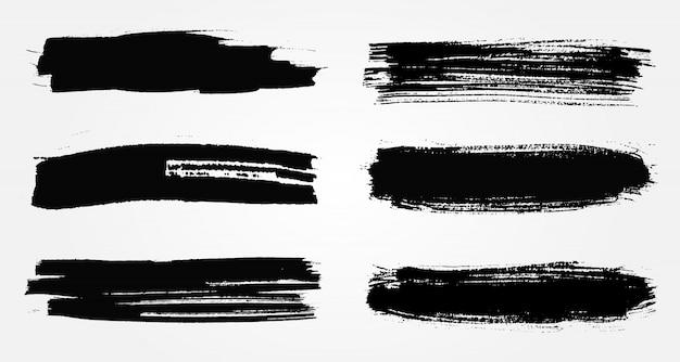 Escovas de grunge preto