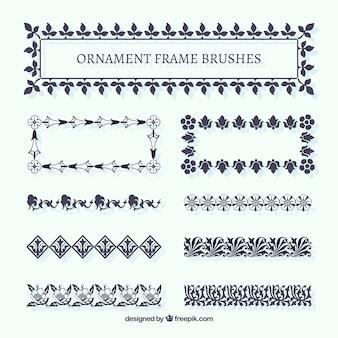 Escovas frame do ornamento