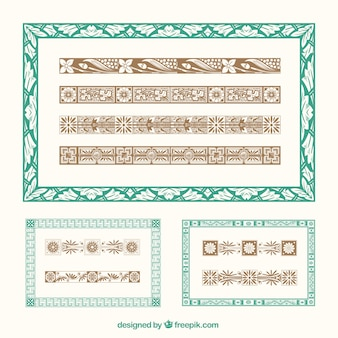 Escovas ilustrador ornamentais