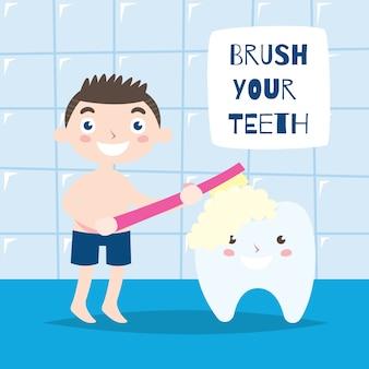 Escove seus dentes campanha poster