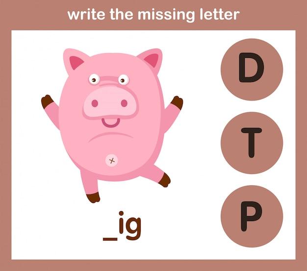 Escreva a letra que falta