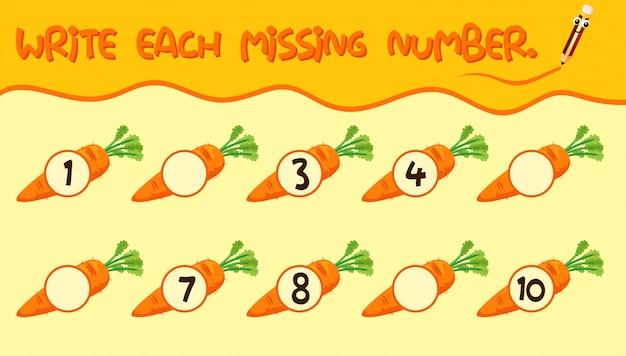 Escreva a planilha de número de matemática
