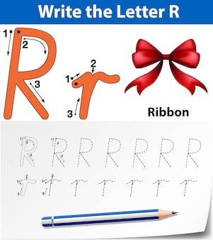 Escreva as fitas da letra r