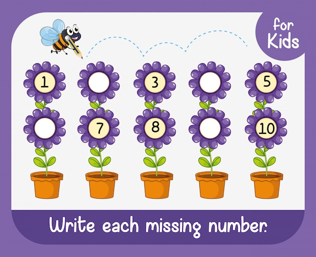 Escreva cada número que falta