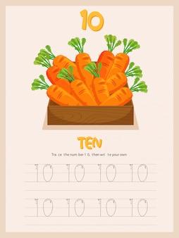 Escrevendo a prática número dez