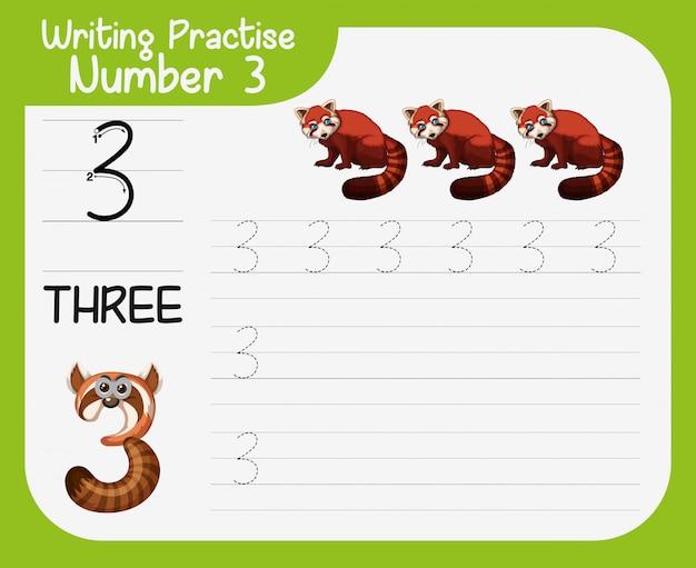 Escrevendo a prática número três