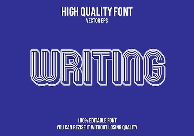 Escrevendo efeito de texto editável