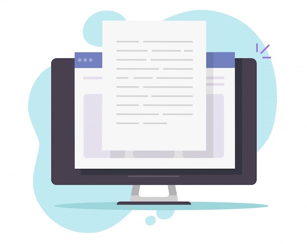 Escrevendo texto no computador desktop