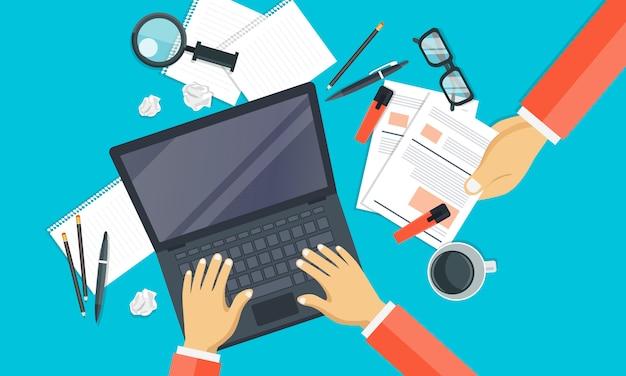 Escrevendo uma história ou coluna para jornal ou revista
